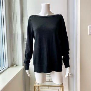 Lightweight Merino Wool Blend Boatneck Sweater